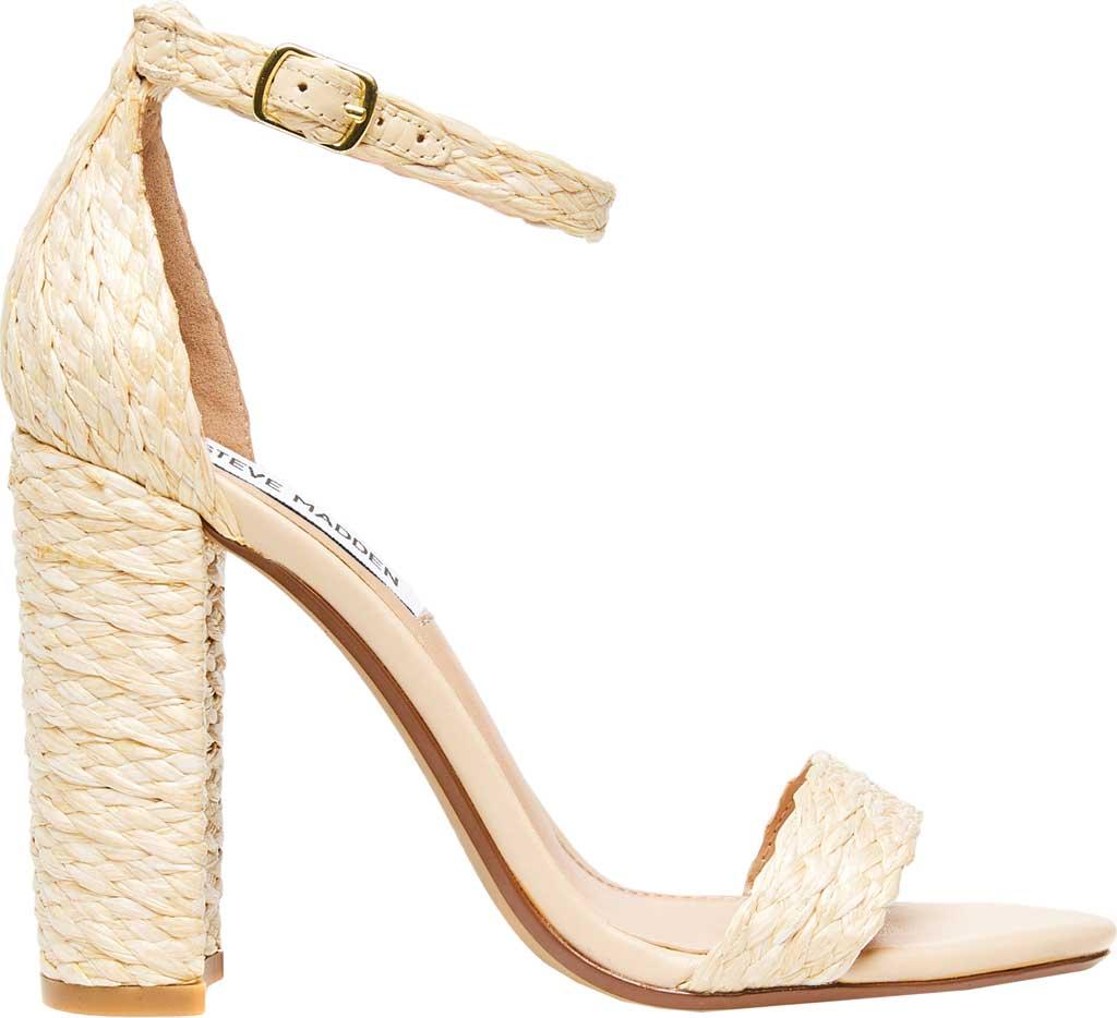Women's Steve Madden Carrson Ankle Strap Sandal, Natural Raffia Synthetic, large, image 2