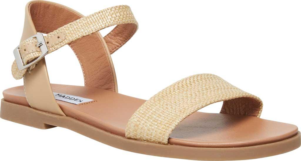 Women's Steve Madden Dina Ankle Strap Sandal, Natural Raffia, large, image 1
