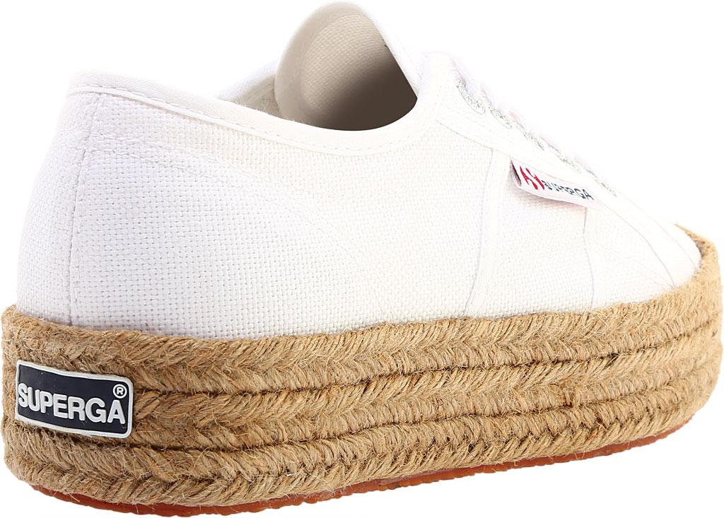 Women's Superga 2730 Espadrille Platform Sneaker, White Canvas, large, image 4