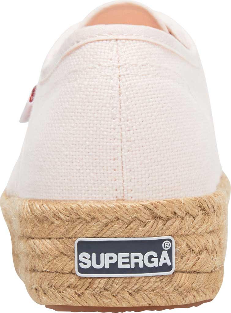 Women's Superga 2730 Espadrille Platform Sneaker, Pink Canvas, large, image 3