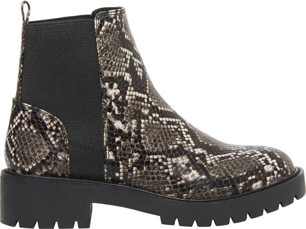 Women's Steve Madden Gliding Chelsea Boot, Grey Snake Leather, large, image 2