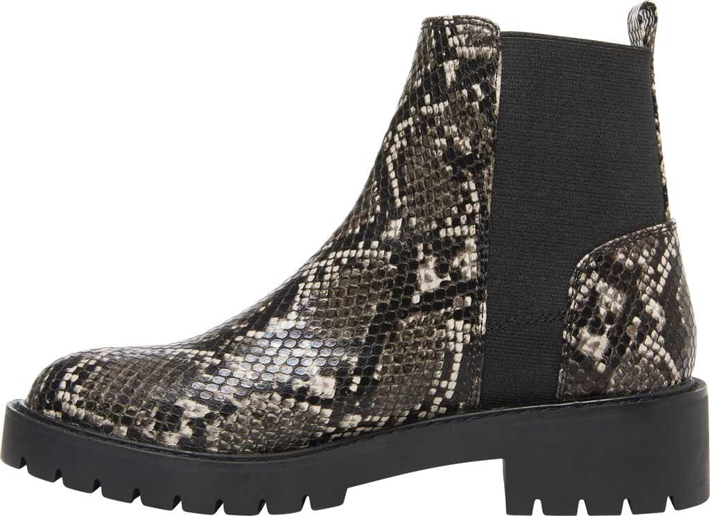 Women's Steve Madden Gliding Chelsea Boot, Grey Snake Leather, large, image 3