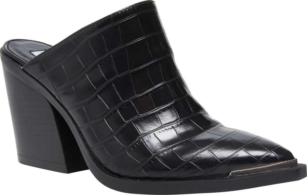 Women's Steve Madden Alanna Block Heel Mule, Black Croco Synthetic, large, image 1