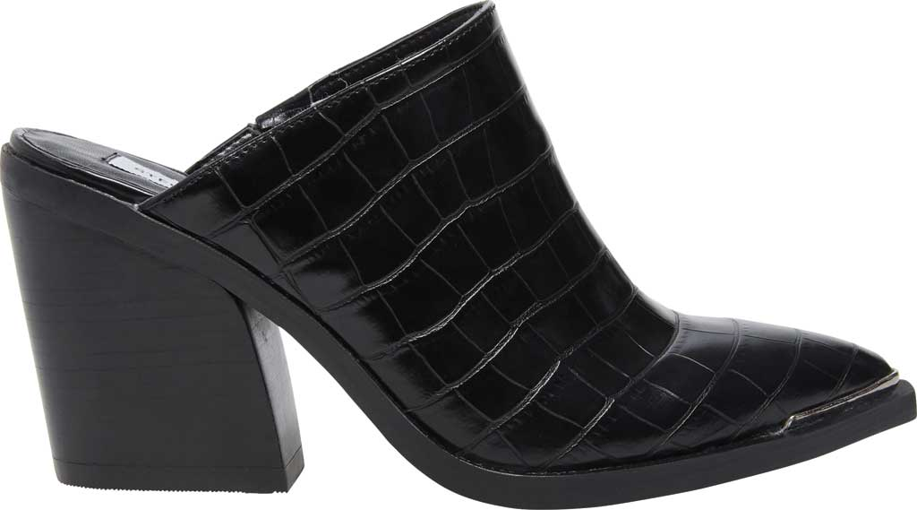 Women's Steve Madden Alanna Block Heel Mule, Black Croco Synthetic, large, image 2
