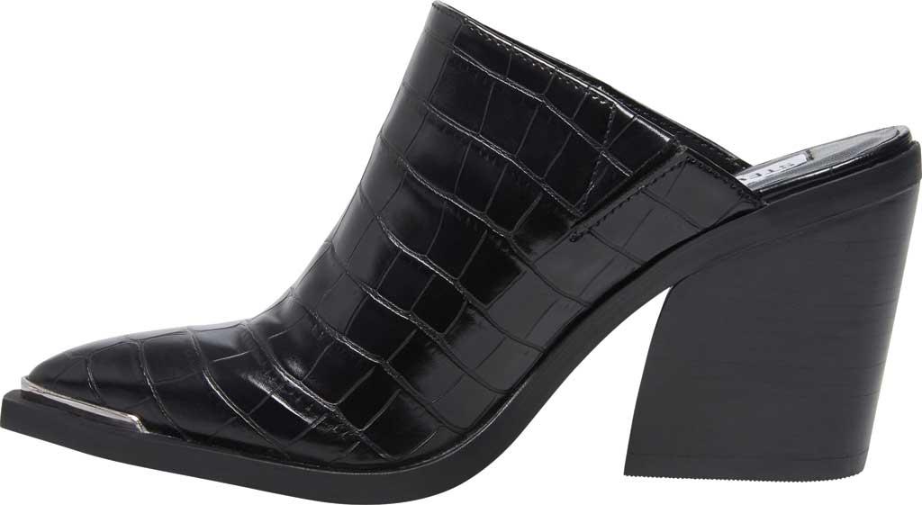 Women's Steve Madden Alanna Block Heel Mule, Black Croco Synthetic, large, image 3