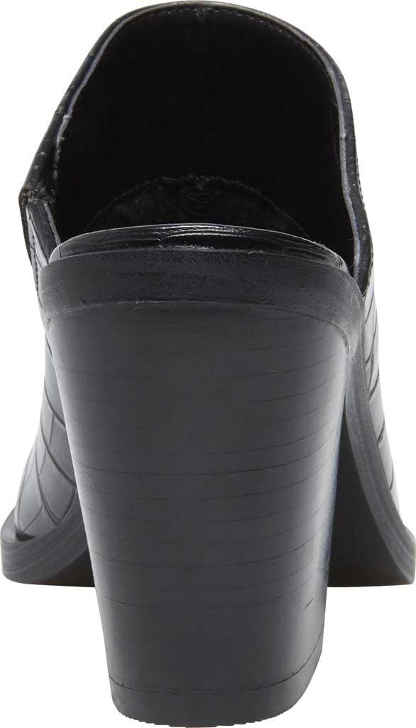 Women's Steve Madden Alanna Block Heel Mule, Black Croco Synthetic, large, image 4