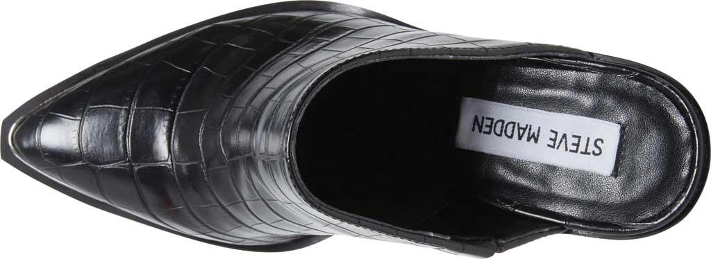 Women's Steve Madden Alanna Block Heel Mule, Black Croco Synthetic, large, image 5