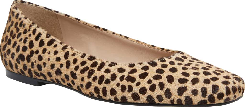 Women's Steve Madden Byra Square Toe Flat, Leopard Synthetic, large, image 1