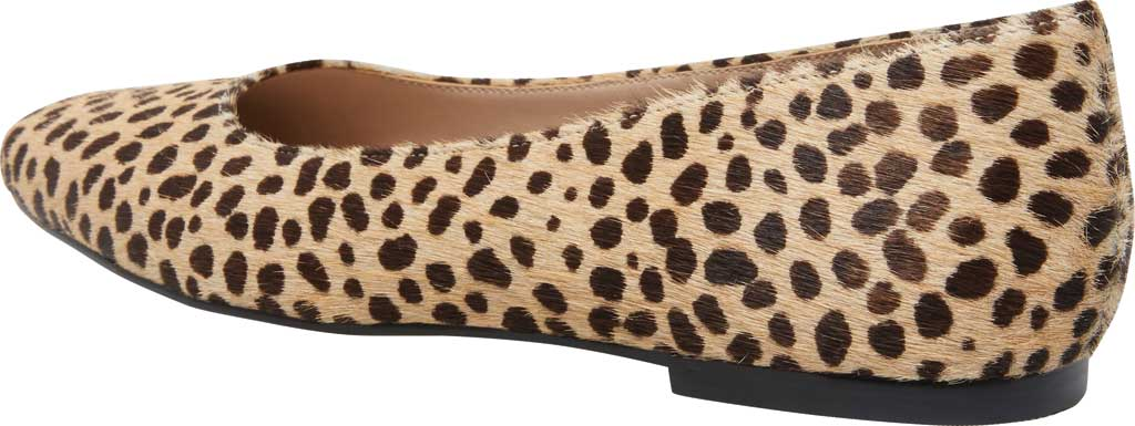 Women's Steve Madden Byra Square Toe Flat, Leopard Synthetic, large, image 3