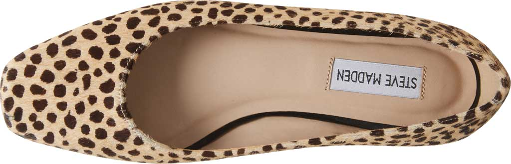 Women's Steve Madden Byra Square Toe Flat, Leopard Synthetic, large, image 5