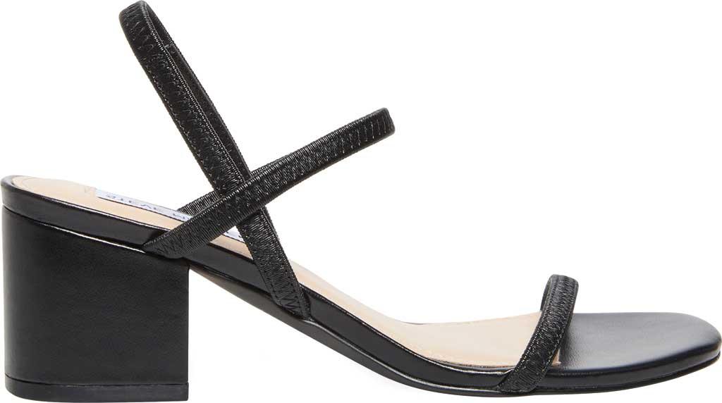 Women's Steve Madden Inessa Block Heel Sandal, Black Synthetic, large, image 2