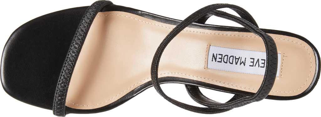Women's Steve Madden Inessa Block Heel Sandal, Black Synthetic, large, image 4