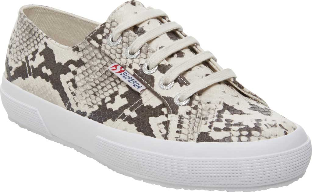 Women's Superga 2750 Synth Snakew Sneaker, Natural Snake Synthetic, large, image 1