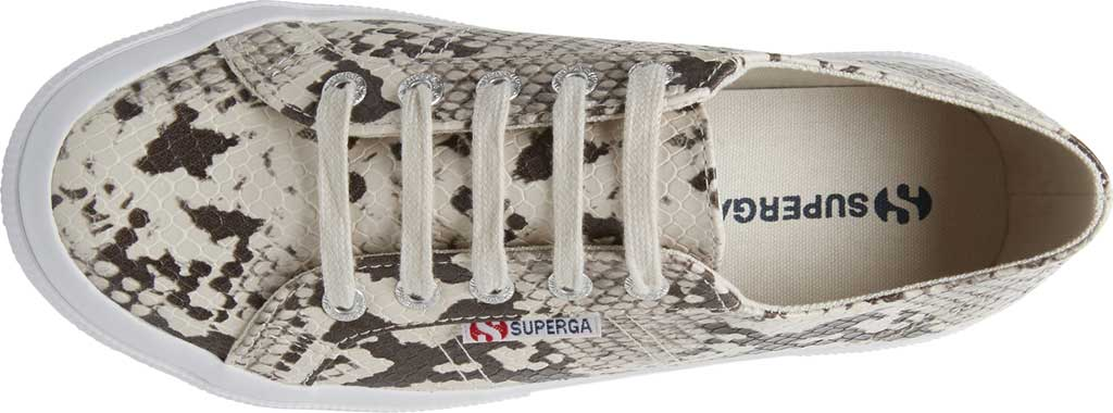 Women's Superga 2750 Synth Snakew Sneaker, Natural Snake Synthetic, large, image 4
