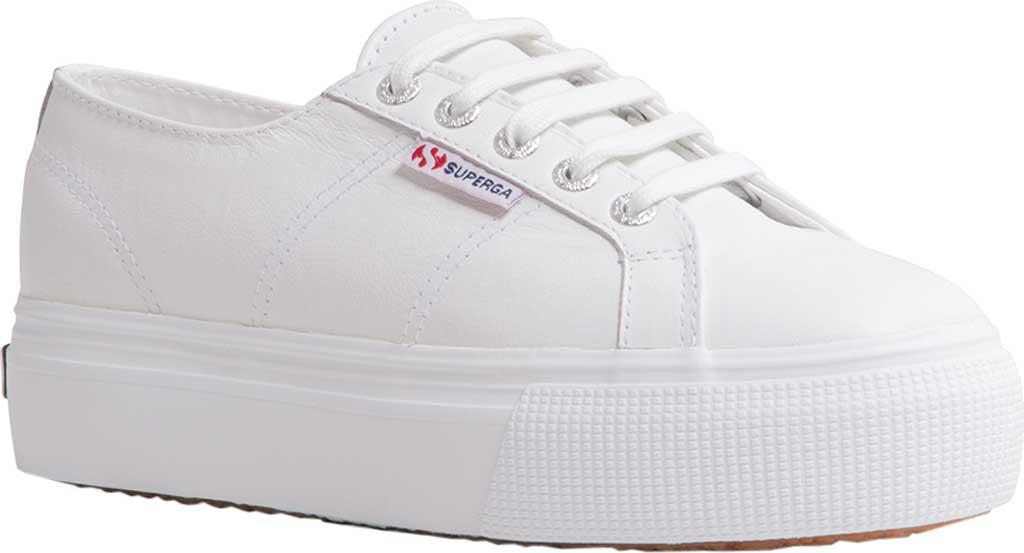 Women's Superga 2790 Nappaleather Platform Sneaker, White Nappa Leather, large, image 1