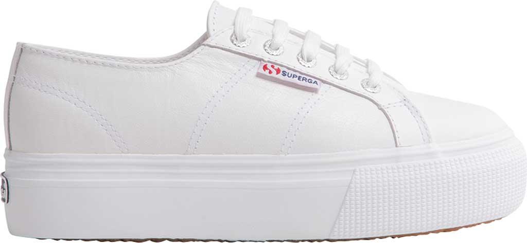 Women's Superga 2790 Nappaleather Platform Sneaker, White Nappa Leather, large, image 2