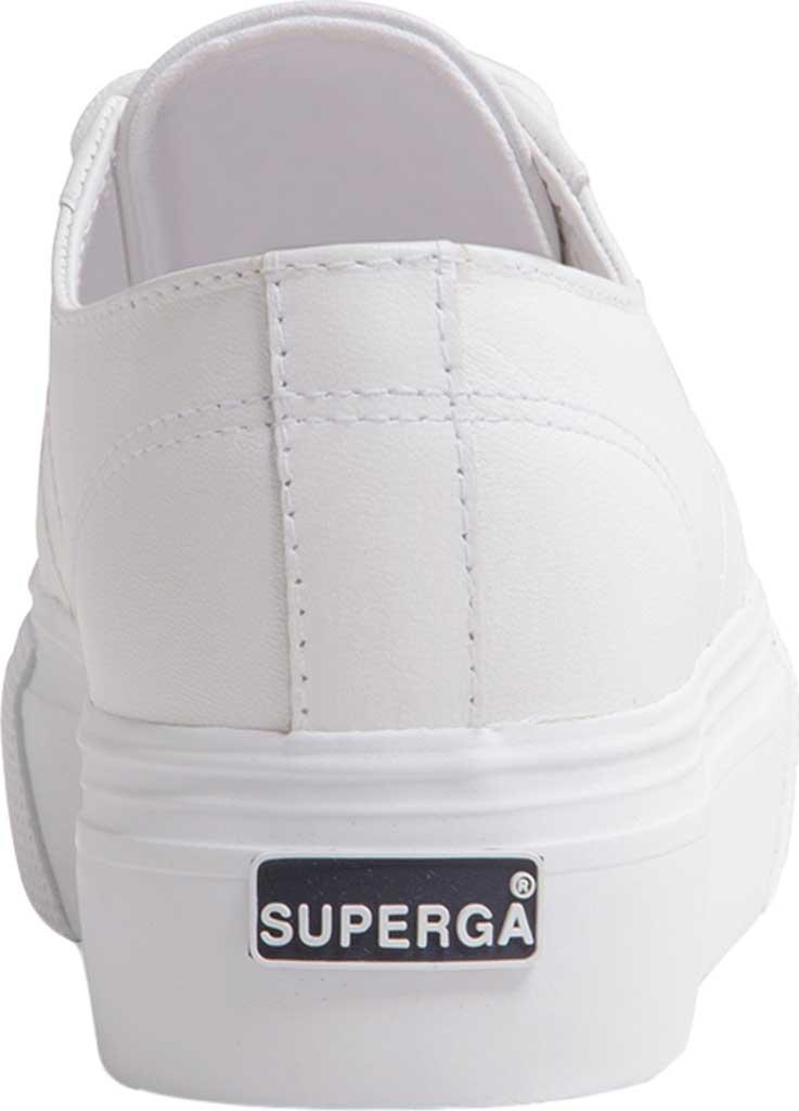 Women's Superga 2790 Nappaleather Platform Sneaker, White Nappa Leather, large, image 3