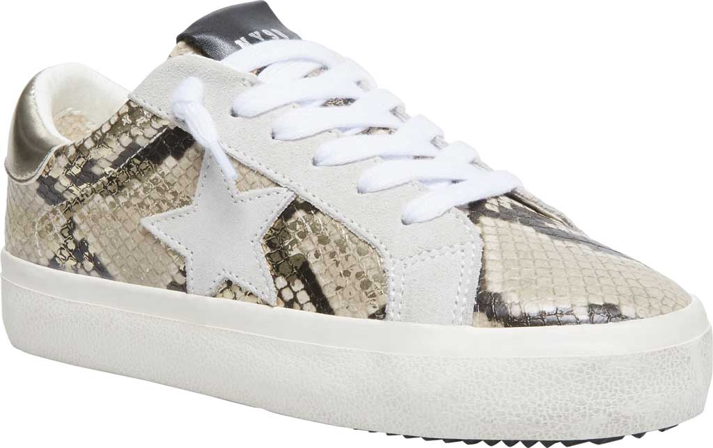 Women's Steve Madden Starling Perforated Sneaker, Gold Snake Synthetic, large, image 1