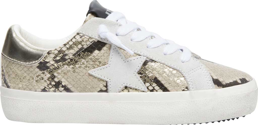 Women's Steve Madden Starling Perforated Sneaker, Gold Snake Synthetic, large, image 2