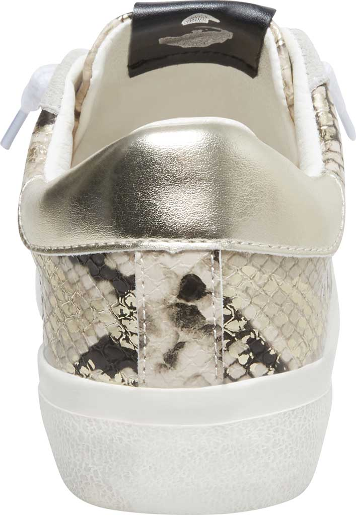 Women's Steve Madden Starling Perforated Sneaker, Gold Snake Synthetic, large, image 3