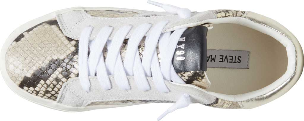 Women's Steve Madden Starling Perforated Sneaker, Gold Snake Synthetic, large, image 4