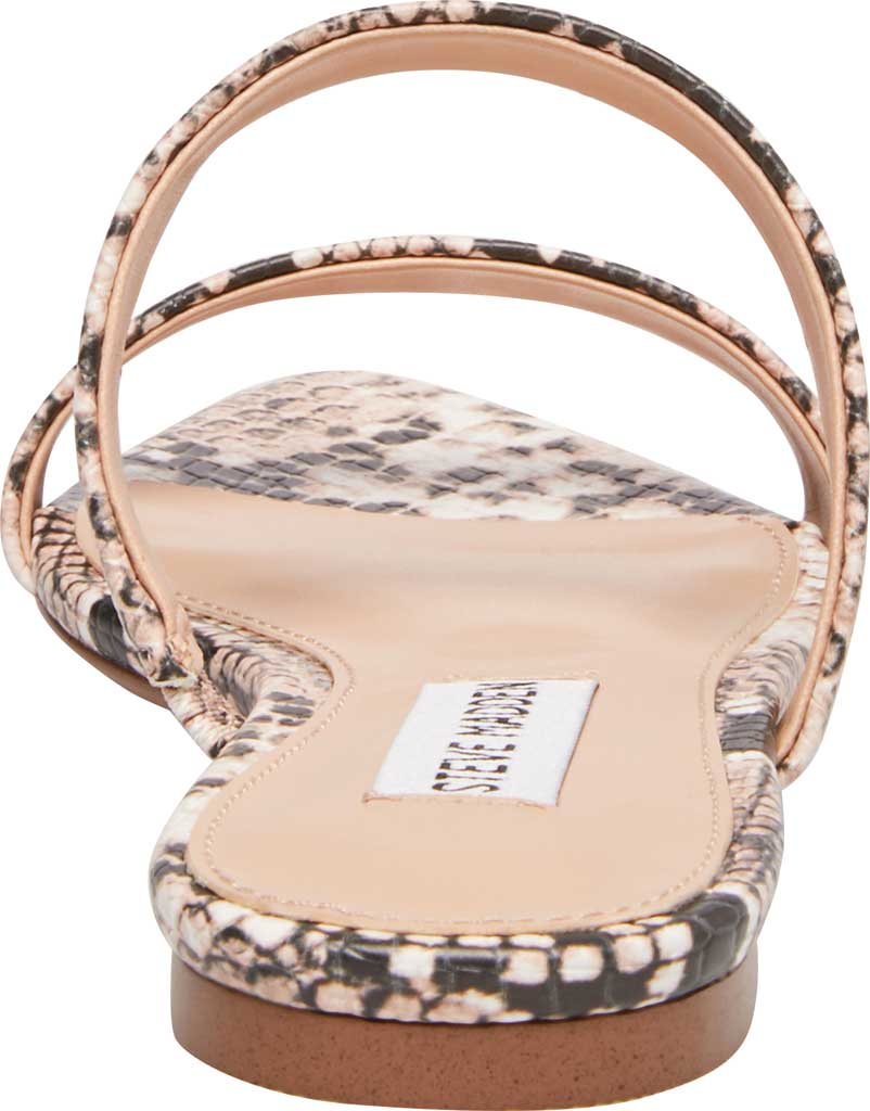 Women's Steve Madden Monaco Two Band Slide, Natural Snake Synthetic Leather, large, image 3