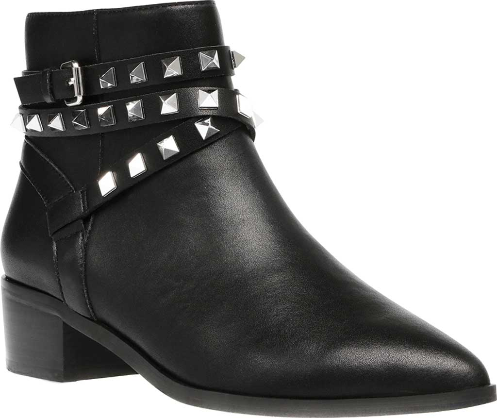 Women's Steve Madden Besto Studded Ankle Bootie, Black Leather, large, image 1