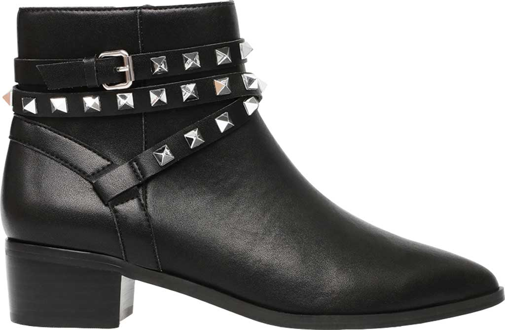 Women's Steve Madden Besto Studded Ankle Bootie, Black Leather, large, image 2