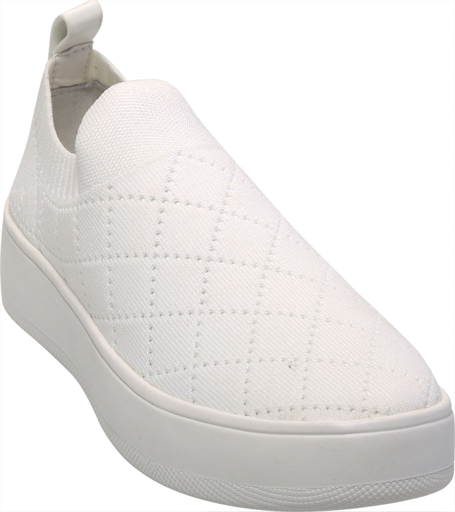 Women's Steve Madden Bequilt Flatform Sneaker, White Synthetic Knit, large, image 1