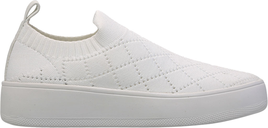 Women's Steve Madden Bequilt Flatform Sneaker, White Synthetic Knit, large, image 2