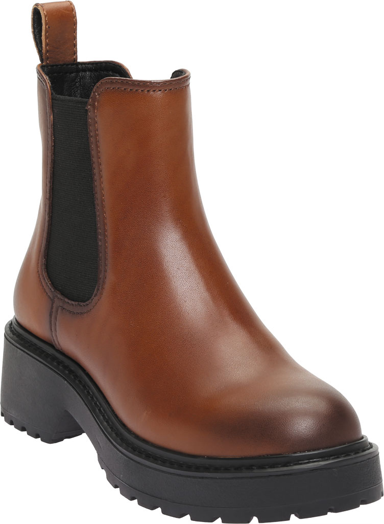 Women's Steve Madden Trap Chelsea Boot, Cognac Leather, large, image 1