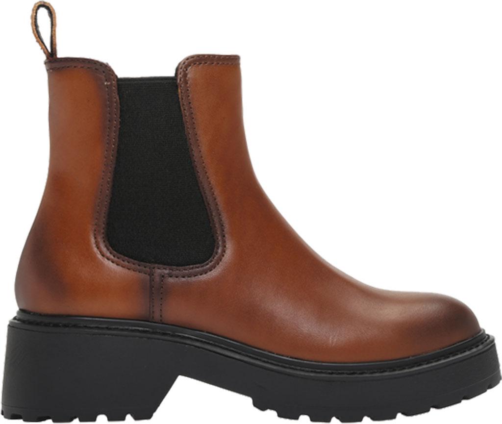 Women's Steve Madden Trap Chelsea Boot, Cognac Leather, large, image 2