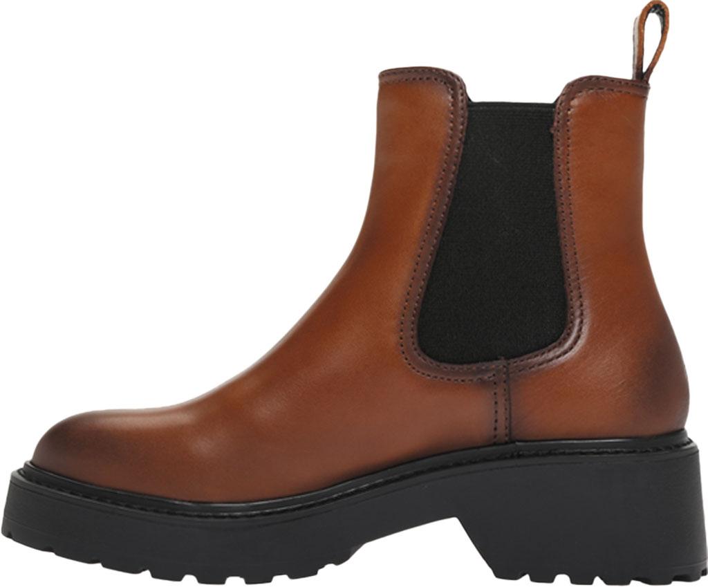 Women's Steve Madden Trap Chelsea Boot, Cognac Leather, large, image 3