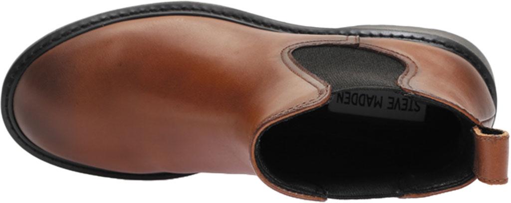 Women's Steve Madden Trap Chelsea Boot, Cognac Leather, large, image 5