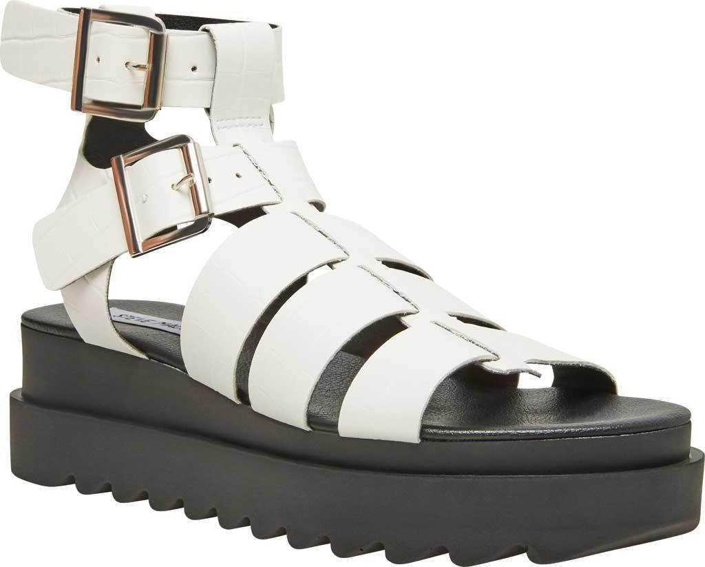 Women's Steve Madden Zeeta Gladiator Sandal, White Croco Synthetic, large, image 1