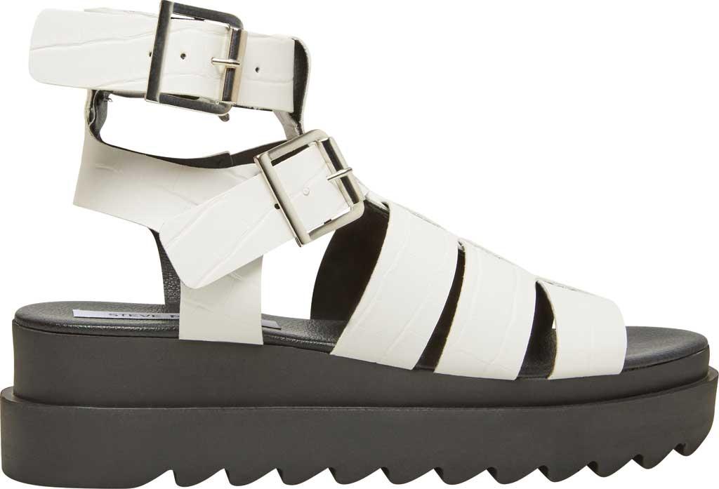 Women's Steve Madden Zeeta Gladiator Sandal, White Croco Synthetic, large, image 2