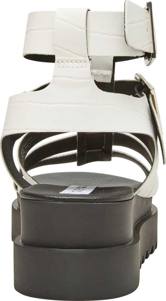 Women's Steve Madden Zeeta Gladiator Sandal, White Croco Synthetic, large, image 3