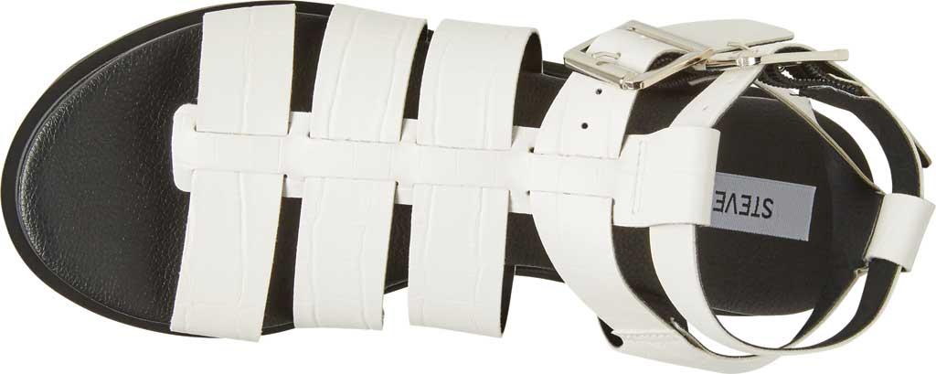 Women's Steve Madden Zeeta Gladiator Sandal, White Croco Synthetic, large, image 4