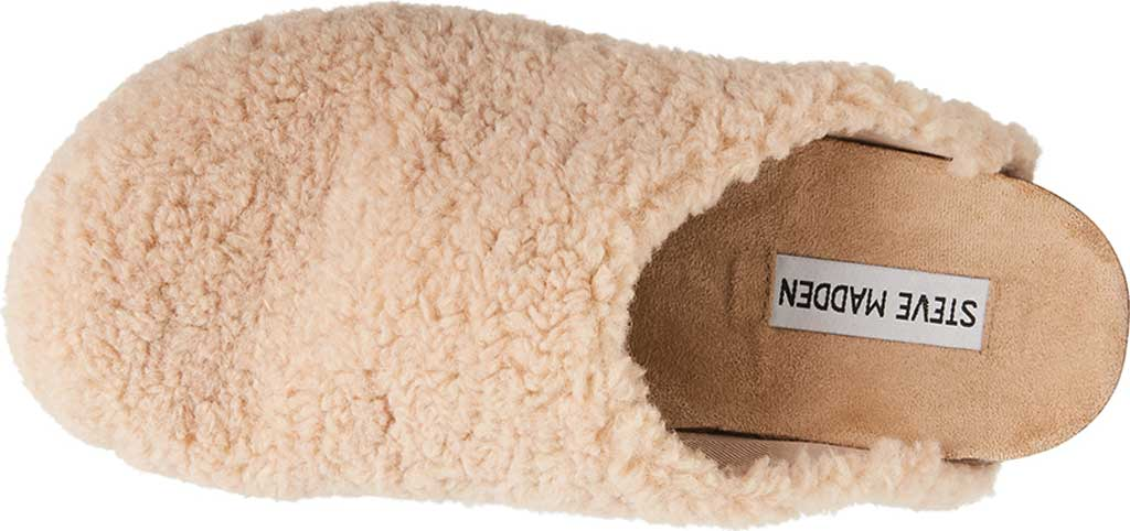 Women's Steve Madden Vesa Faux Fur Slipper, Natural Faux Fur, large, image 4