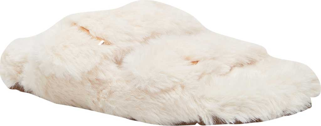 Women's Steve Madden Around Faux Fur Slide Slipper, Ivory Faux Fur, large, image 1