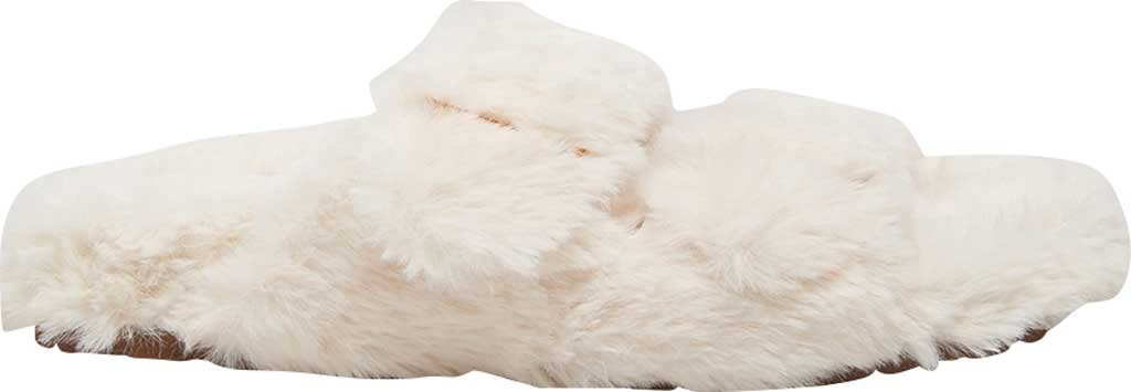 Women's Steve Madden Around Faux Fur Slide Slipper, Ivory Faux Fur, large, image 2