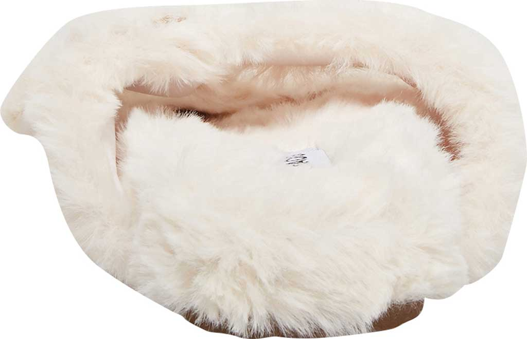 Women's Steve Madden Around Faux Fur Slide Slipper, Ivory Faux Fur, large, image 3