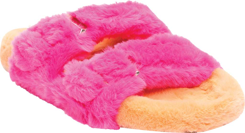 Women's Steve Madden Around Faux Fur Slide Slipper, Multi Faux Fur, large, image 1