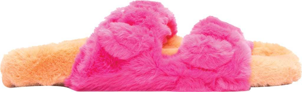 Women's Steve Madden Around Faux Fur Slide Slipper, Multi Faux Fur, large, image 2