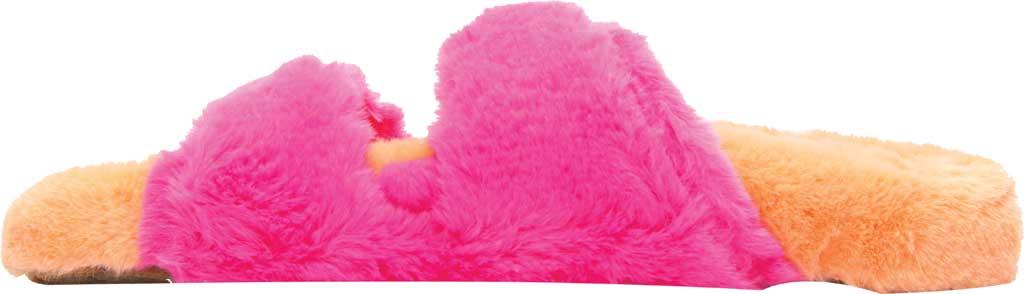Women's Steve Madden Around Faux Fur Slide Slipper, Multi Faux Fur, large, image 3