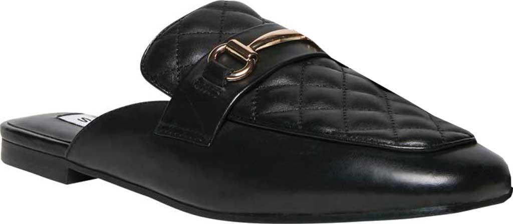 Women's Steve Madden Kori-Q Mule, Black Leather, large, image 1