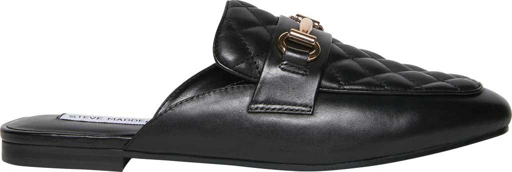 Women's Steve Madden Kori-Q Mule, Black Leather, large, image 2