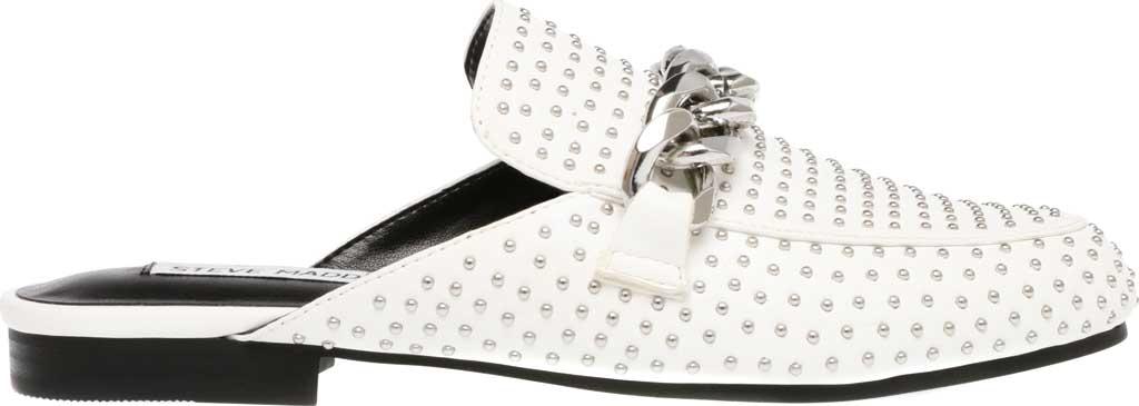 Women's Steve Madden Keller-S Mule, White Synthetic Leather, large, image 2