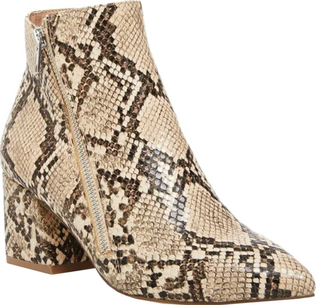 Women's Steve Madden Checkmate Bootie, Tan Snake Synthetic Leather, large, image 1