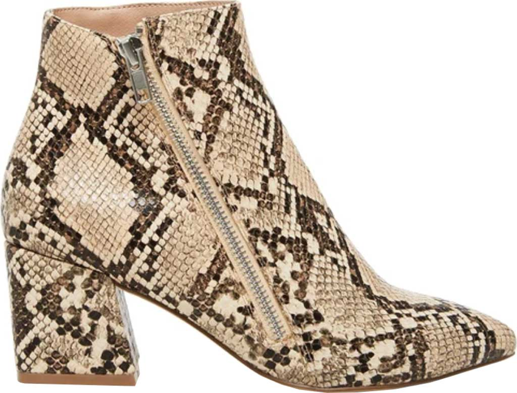 Women's Steve Madden Checkmate Bootie, Tan Snake Synthetic Leather, large, image 2